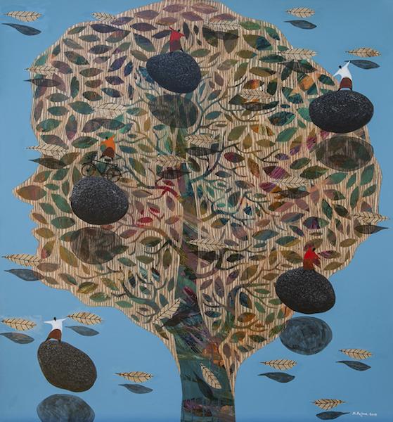 Nyoman Sujana Kenyem - Apa yang kamu pikirkan tentang pohon #2 - 145 x 135 - 2015 - Mixed media on canvas