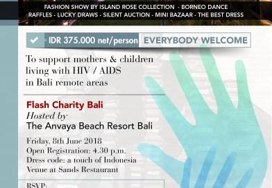ANVAYA Beach Resort Bali  Friday, June 8th 2018 Sunset Dinner with Flash Charity Bali at Sands Restaurant