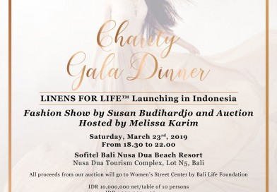 Sofitel Bali Nusa Dua Beach Resort Saturday,March 23rd 2019 from 18:30-22:00 Linens for Life an Annual Charity Gala Dinner